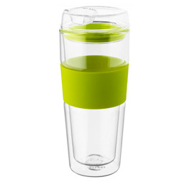 Double Wall Glass Tumbler Green