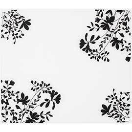 Silicone Placemat, Jardin on Clear