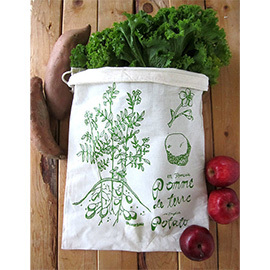 Potato Print Reusable Produce Bags (Set of 2)