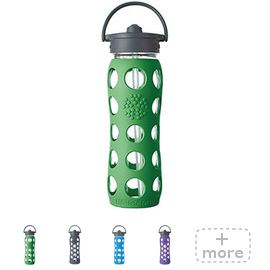 22oz Glass Water Bottle with Straw Top