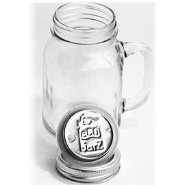 Glass Mug with Stainless Steel Drink Top