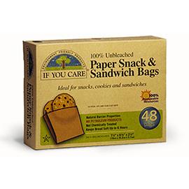 Unbleached Paper Snack & Sandwich Bags