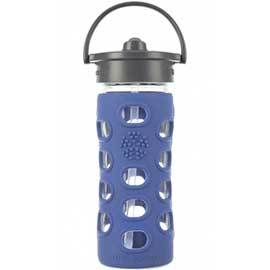 12oz Glass Water Bottle with Straw Top