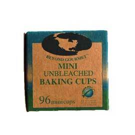 Unbleached Mini Baking Cups