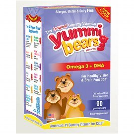 DHA Yummi Bears, 90 count
