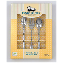 3 Piece Baby & Toddler Stainless Steel Utensil Set