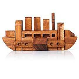 Solid Wood Boat Puzzle