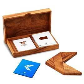 Solid Wood Tangram Set