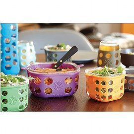 Glass Food Storage with Silicone Sleeve