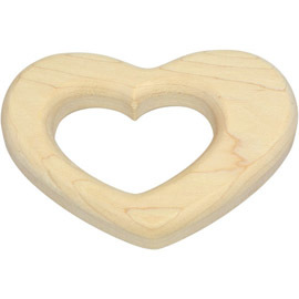 Natural Maple Teether, Heart