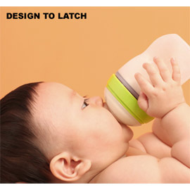 Natural Feel Silicone Baby Bottle, Green