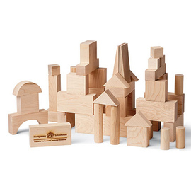 Natural Wood Building Blocks - Junior Set