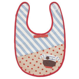 Organic Cotton Bib, Boxer Dog