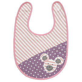 Organic Cotton Bib, Ballerina Mouse
