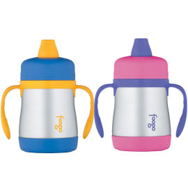 Foogo Leak-Proof Soft Spout Sippy Cup with Handles