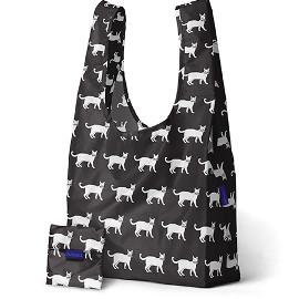 Reusable Shopping Bag, Black Cat
