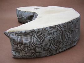 Organic Nursing Pillow - Blue Truffles