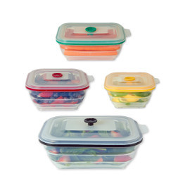 Nice Collapsible Silicone Food Storage Containers, Rectangle By Collapse It