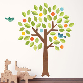 Polka Dot Tree Fabric Wall Decals
