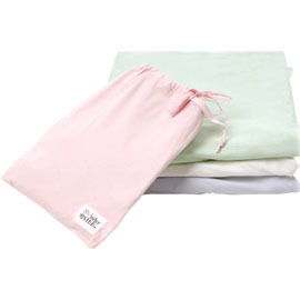 Organic Cotton Fitted Crib Sheet w/Bag