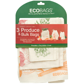 Set of 3 Reusable Cotton Produce & Bulk Bags