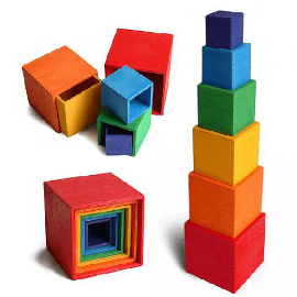 Large Wooden Nesting and Stacking Blocks