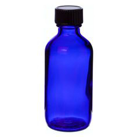2 oz blue glass bottle