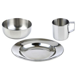 Stainless Steel Children's Dishware Set