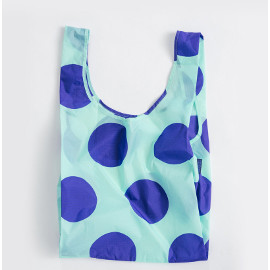 Reusable Shopping Bag, Mint Big Dot