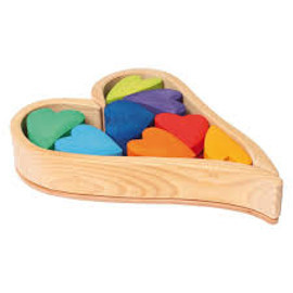 Rainbow Hearts Block Puzzle