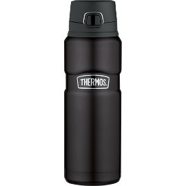 Vacuum Insulated 24 oz Matte Black Drink Bottle
