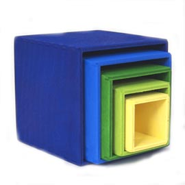 blue stacking boxes
