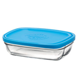 Lys Rectangular Bowl with Lid, 13-ounce