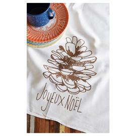 Cotton Tea Towel, Joyeux Noel