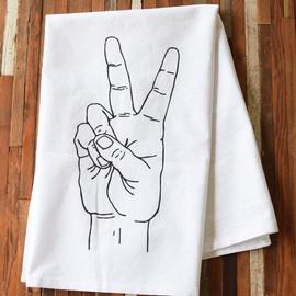 Cotton Tea Towel, Peace