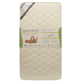 Organic Cotton Crib Mattress, Quilted Deluxe