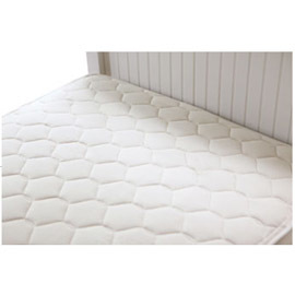 Organic Cotton  Twin Mattress, Quilted Deluxe