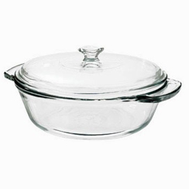Casserole Dish with TruefitLid and Glass Cover, 2 qt