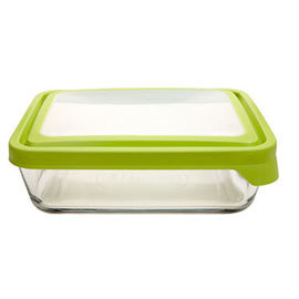 11 cup Glass Baking Dish and Storage with Trueseal Lid
