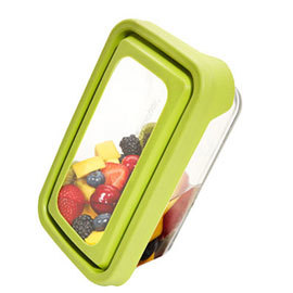 38 oz Glass Rectangular Food Storage with Trueseal Lid