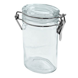 glass spice jar oval 4 oz