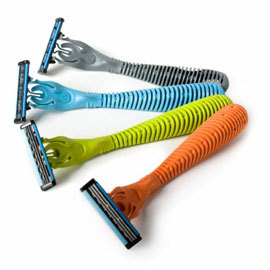 Refillable Triple Blade Razor