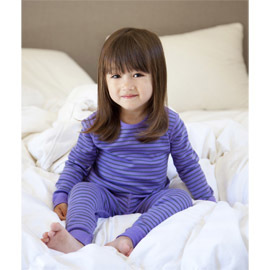Kids Organic Cotton Pajamas, Purple & Grey