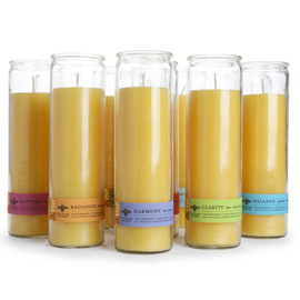 beeswax aromatherapy sanctuary glass candles